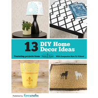 """13 DIY Home Decor Ideas"" free eBook from Stencil Ease"