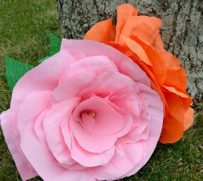Giant crepe paper flowers craft allfreepapercrafts giant crepe paper flowers craft mightylinksfo