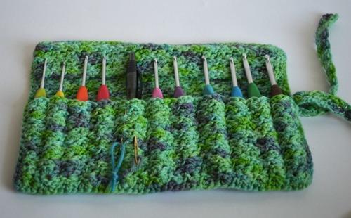 Crocheted Crochet Hook Case Allfreecrochet