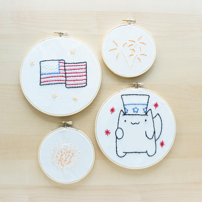 Easy Fourth Of July Embroidery Patterns Allfreeholidaycrafts