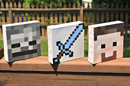 Quick Minecraft Canvas Art