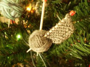 Knitters' Handmade Christmas Ornaments