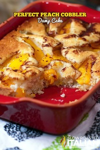 Perfect Peach Cobbler Dump Cake