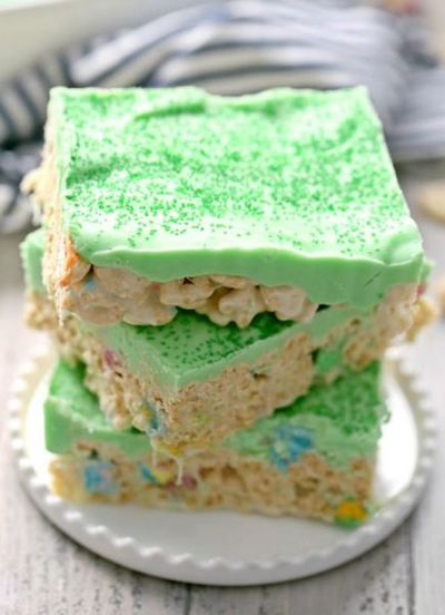 Iced Lucky Charms Treats