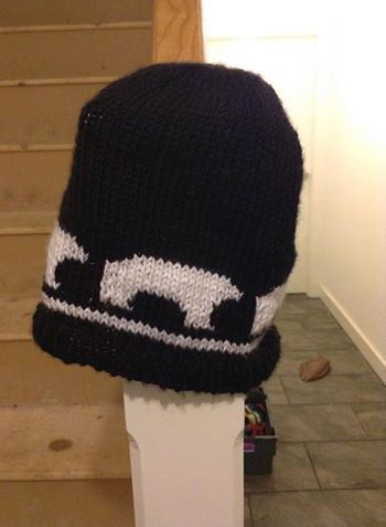 Polar Bear Pattern Knit Hat Allfreeknitting