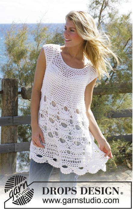 Lacy Summertime Tunic   AllFreeCrochet.com