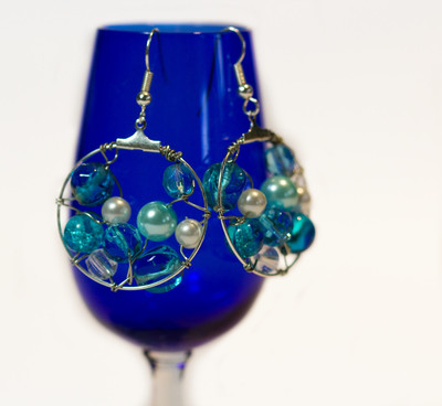 Ocean Pearls DIY Hoop Earrings