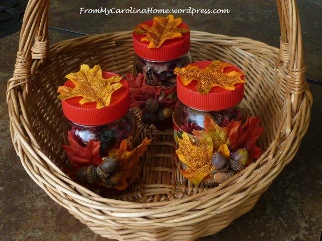 Autumn Themed Mason Jar Table Centerpieces Favecrafts Com