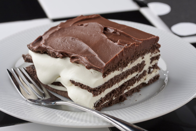 Black and White Napoleon Pudding