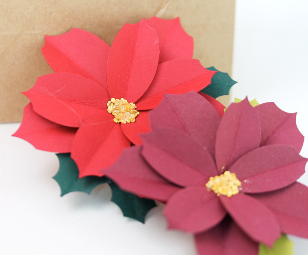 simply beautiful paper punch poinsettias