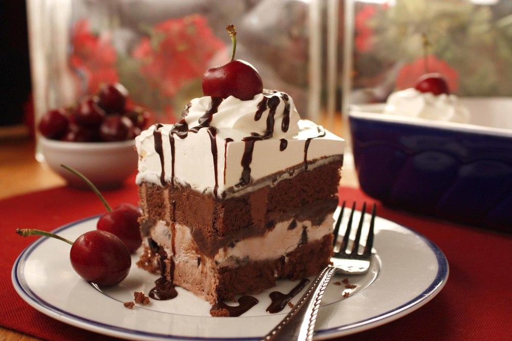 Black Forest Ice Cream Cake Mrfood Com