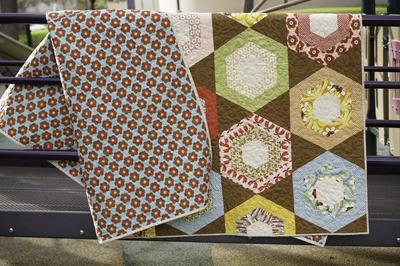 Boho Honeycomb Hexagon Quilt | FaveQuilts.com : honeycomb quilt - Adamdwight.com