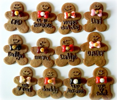 Father's Day Gingerbread Men