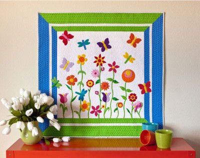 Applique Butterfly Garden