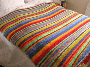 Rainbow Stripe Bonanza Blanket