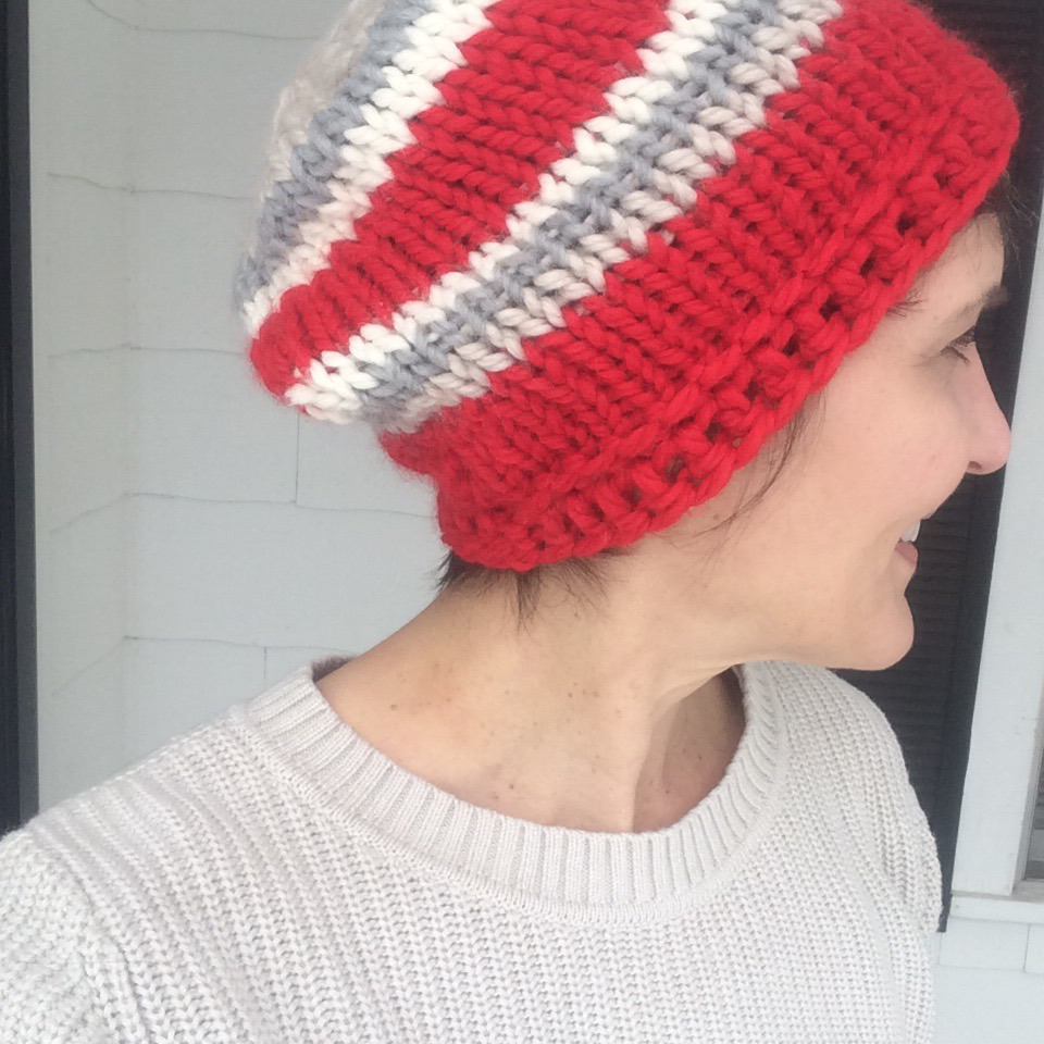 Chunky easy knit hat allfreeknitting bankloansurffo Choice Image