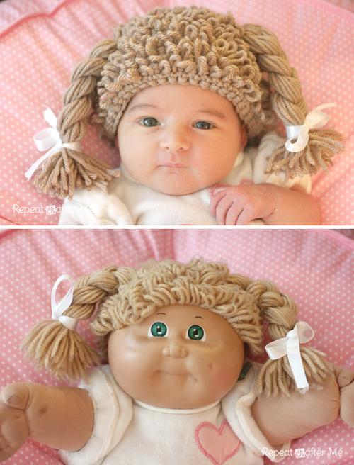Cabbage Patch Doll Crochet Baby Wig Allfreecrochet