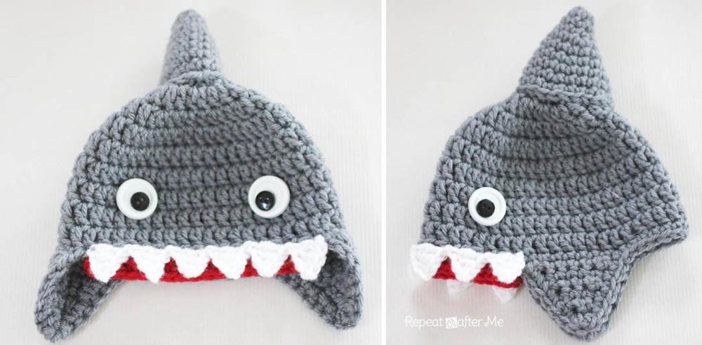 Crochet Shark Baby Hat Allfreecrochet Com
