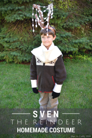 Homemade Sven the Reindeer Costume