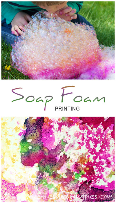 Soap foam painting for Soap craft for kids