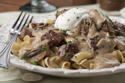 Stylish Beef Stroganoff