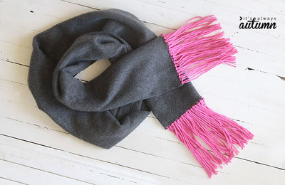 Fast No-Sew Fleece Fringe Scarf