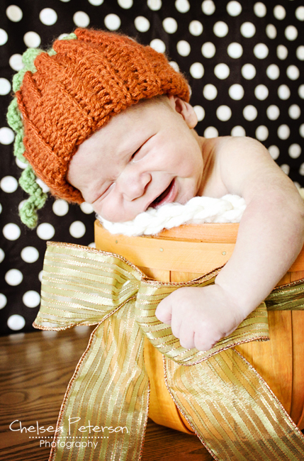 Pumpkin Crochet Baby Hat