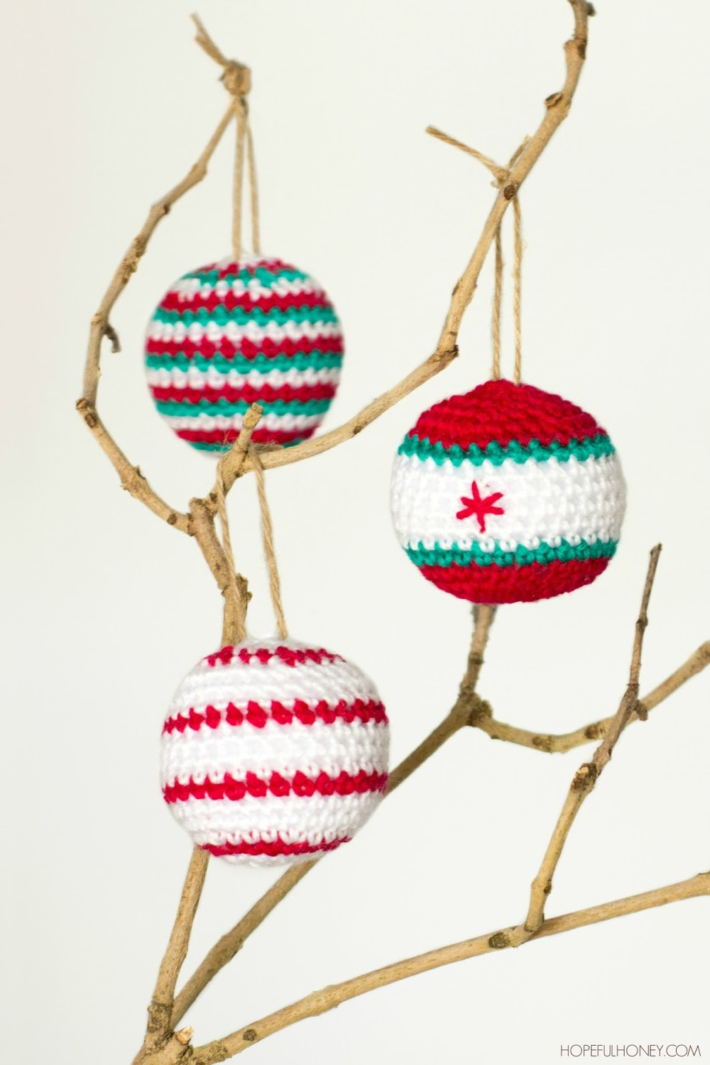 Crochet Bauble Christmas Ornaments | FaveCrafts.com