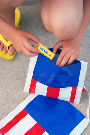 Fourth of July Duct Tape Bags