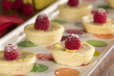 Raspberry Lemon Mini Cheesecake