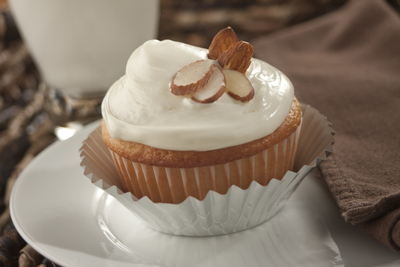 Almond Kissed Cupcakes