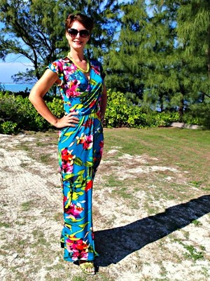 Tropical Wrap Dress Pattern