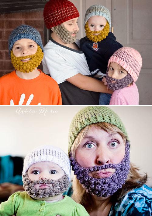 Fun Bobble Beard Baby Hat Crochet Pattern Favecrafts