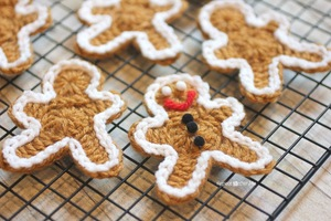 Crochet Gingerbread Man Cookie