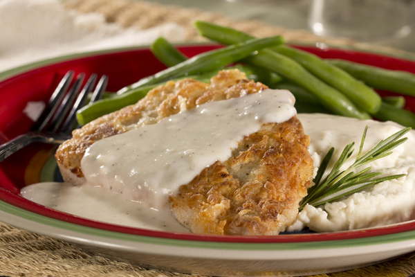 Backwoods Pork Chops with River Gravy
