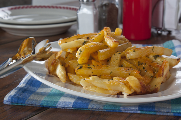 Baked Cheddar Fries