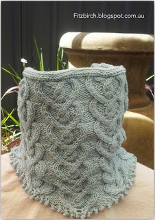 Cable Heart Neck Warmer