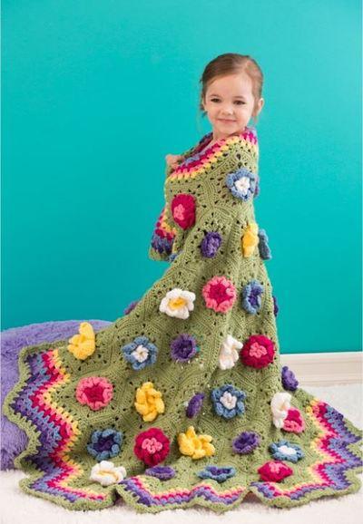 Blooming Hexagon Crochet Afghan Pattern