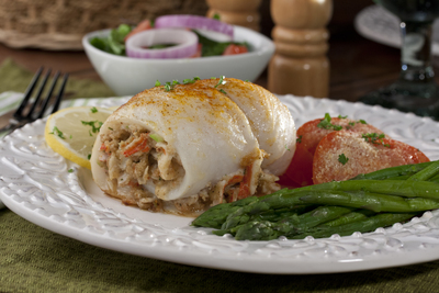 Seafood-Stuffed Fish Fillets