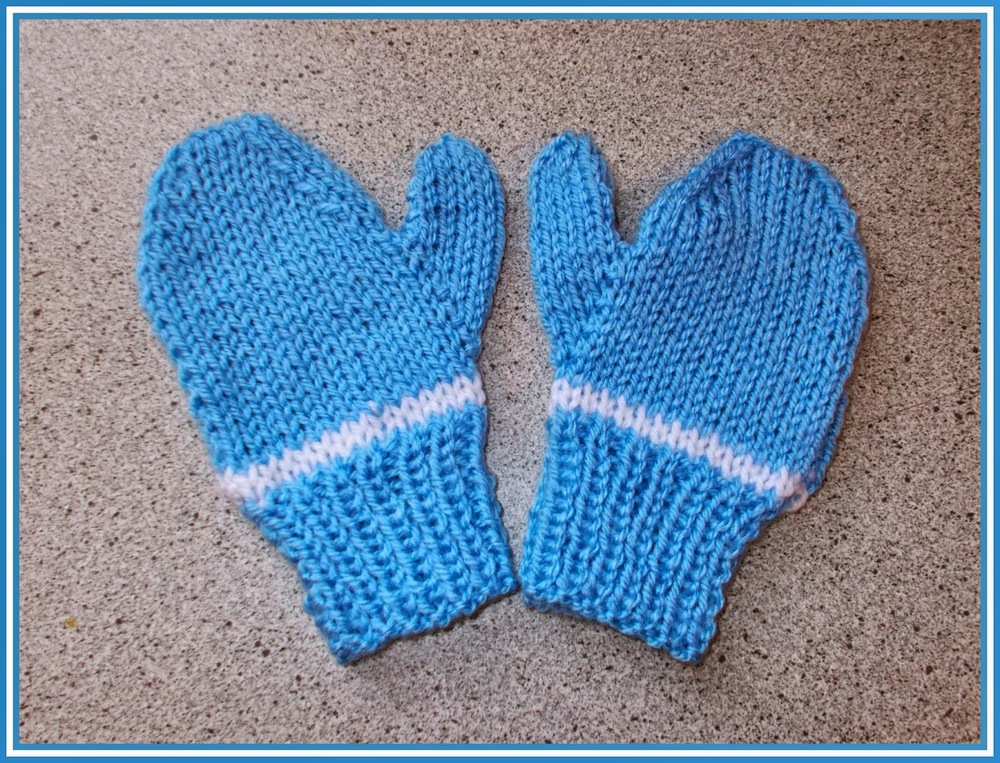 Easy Two Needle Childrens Mittens Allfreeknitting