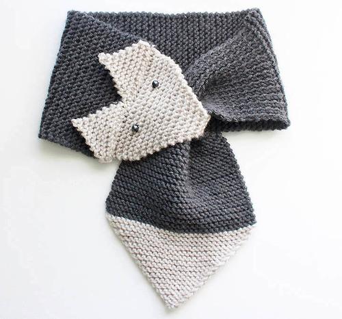 Foxy Garter Stitch Scarf Allfreeknitting