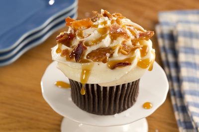 Chocolate Bacon and Sea Salt Cupcakes