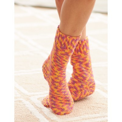 Fun Multicolor Crochet Sock Pattern AllFreeCrochet Simple Crochet Sock Pattern