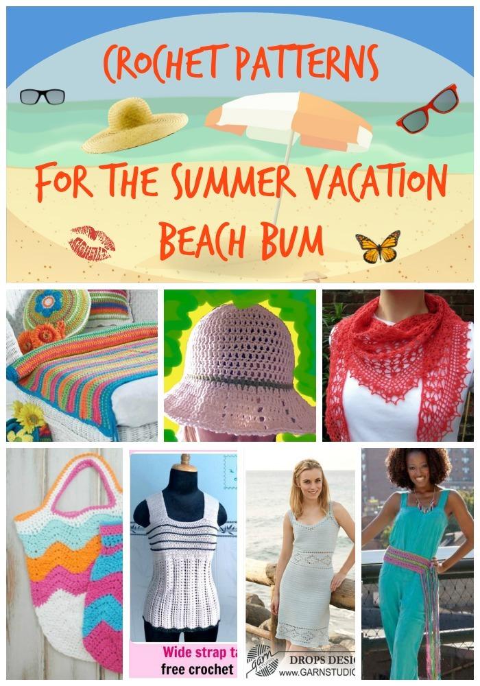31 Crochet Patterns For The Summer Vacation Beach Bum