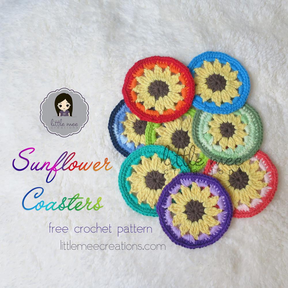 Large Sunflower Crochet Blanket
