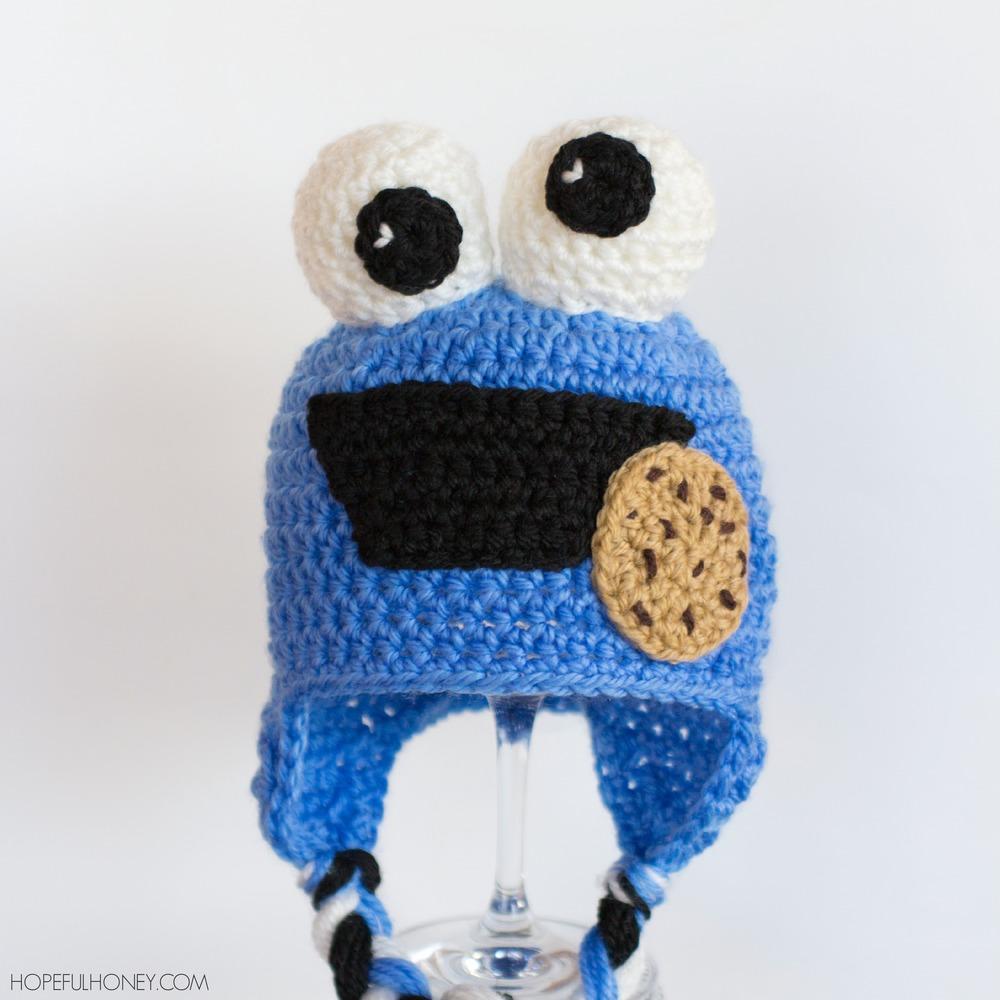 Cookie Monster Baby Hat | AllFreeCrochet.com