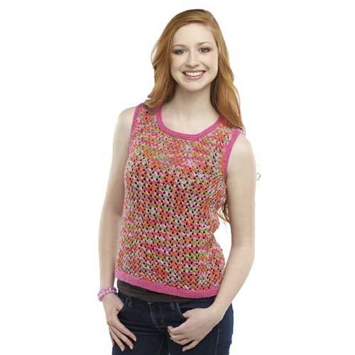 Colorful Summer Days Knit Tank Top Pattern | AllFreeKnitting.com