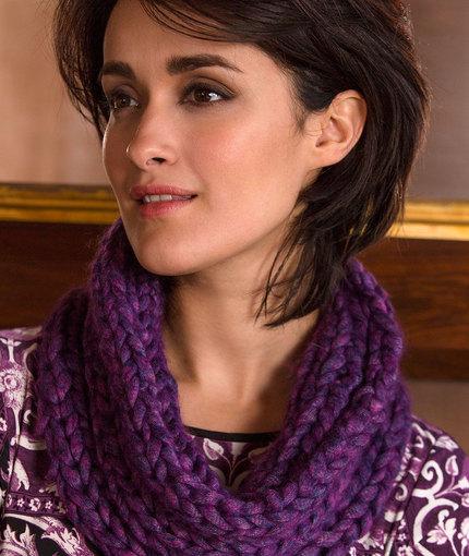 Purple Passion Knit Cowl Pattern Allfreeknitting