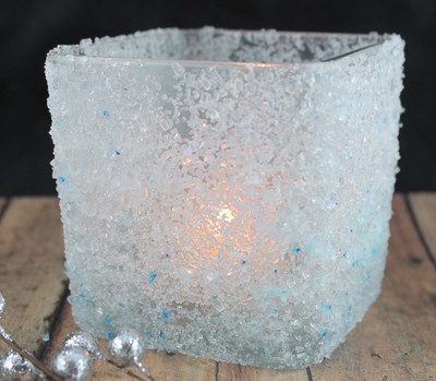 Frosted DIY Candle Holder
