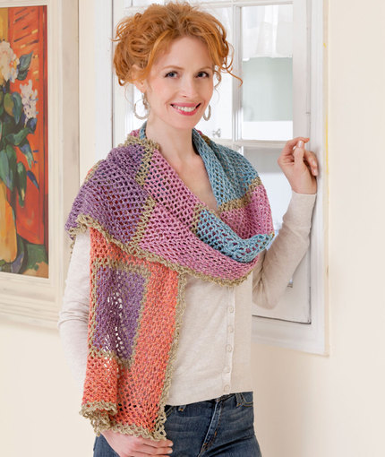 Seriously Striking Crochet Stole